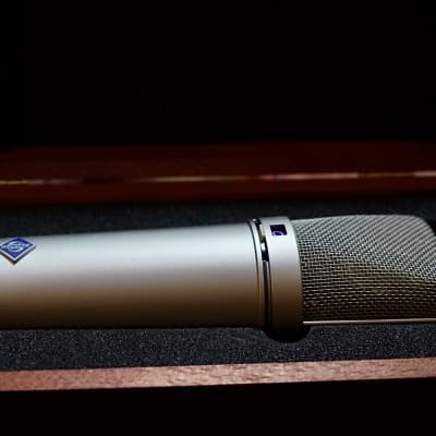 Neumann U 87 Ai Large Diaphragm Multipattern Condenser Microphone with shockmount 1986 - 2020 Nickel