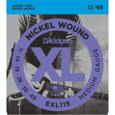 D'Addario EXL115 Nickel Wound Medium/Blues-Jazz Rock 11-49