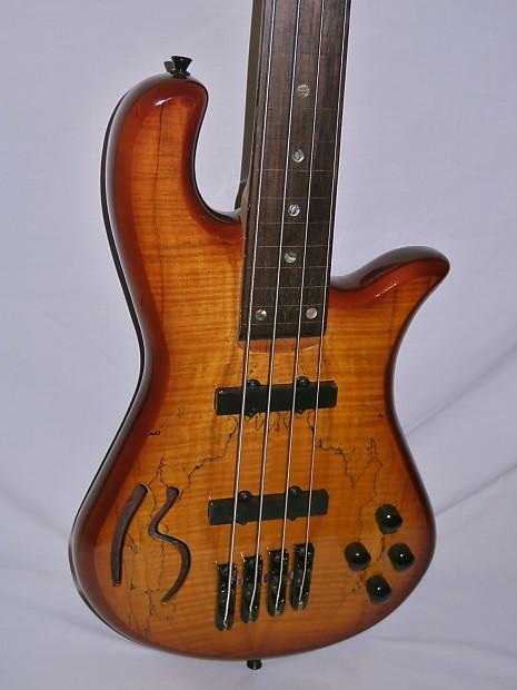 boulder creek b sm4f 4 string bass guitar fretless reverb. Black Bedroom Furniture Sets. Home Design Ideas