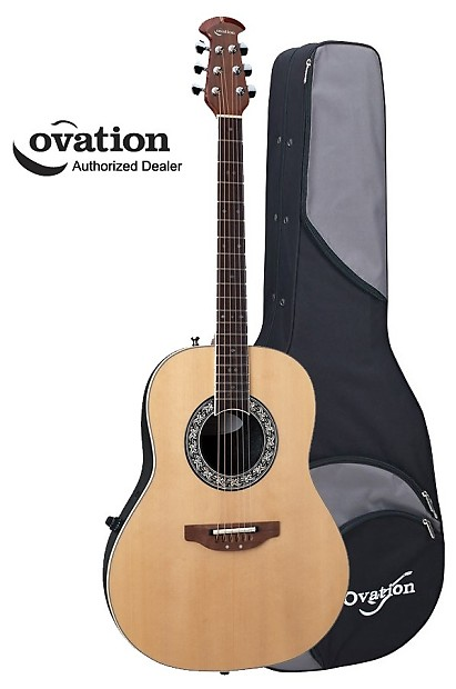 Ovation Vintage Lyrachord 1627VL-4 Acoustic-Electric Guitar - Natural with  Case