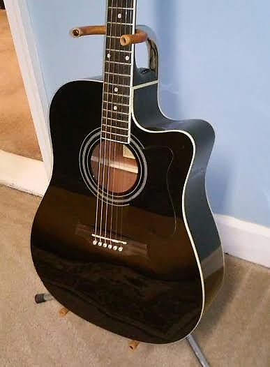 Ibanez V70ce Acoustic Electric Guitar Cutaway Dreadnought Reverb