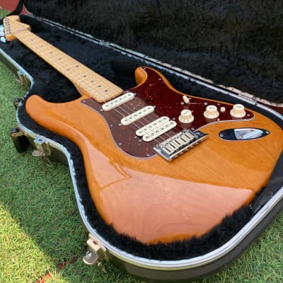 Fender American Deluxe Fat Stratocaster HSS 2011 Amber for sale