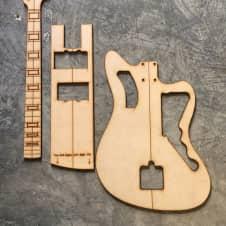 Fender Jazzmaster body templates 3/4\