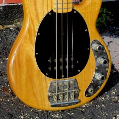 Music Man Stingray Bass 1979 string-thru body Natural finish for sale