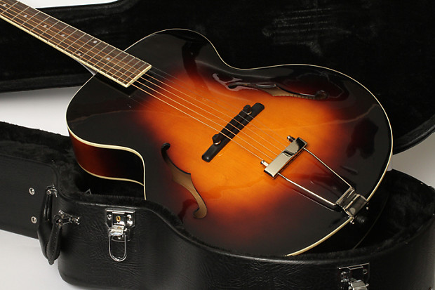the loar lh 300 archtop with hard shell case reverb. Black Bedroom Furniture Sets. Home Design Ideas