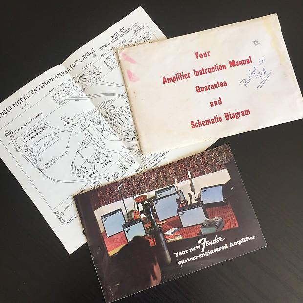 Fender Bassman manual 60s (1965/67)   Atomium Guitars