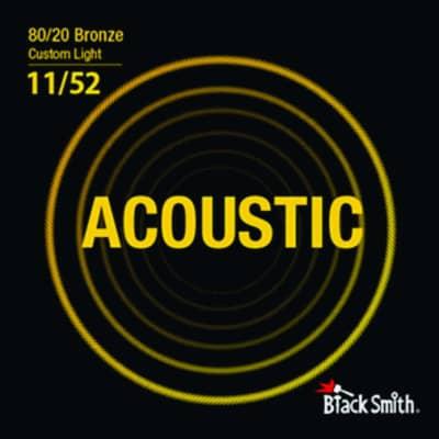BLACKSMITH Acoustic 6 String Set, 80/20 Bronze - Custom Light - 11-52