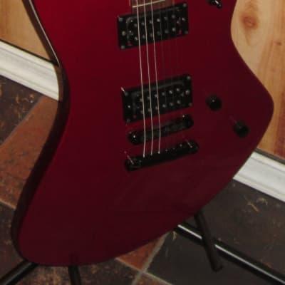 Fernandes Vertigo Metallic Red 6 String Electric Guitar w/Case for sale