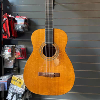Harmony H174 1960's Classical Guitar Natural w/ Hardshell Case for sale