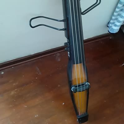 Stagg EDB-3/4RDL-VBR Deluxe 3/4-Size Electric Double Bass w/ Gig Bag