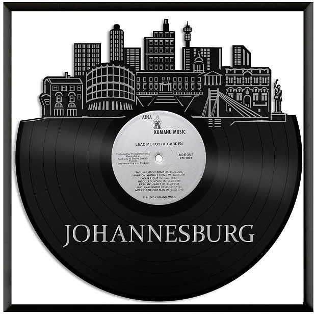 johannesburg vinyl wall art - silver / no frame | vinylshopus | reverb