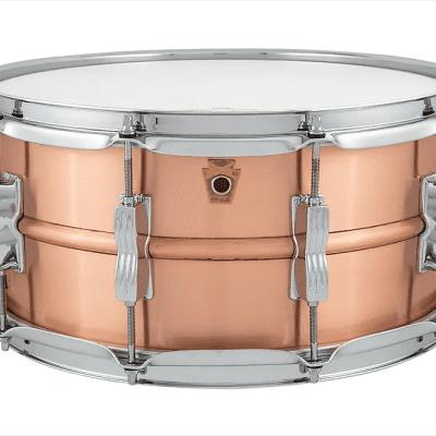"Ludwig LC654B Acro Copper 6.5x14"" Snare Drum"