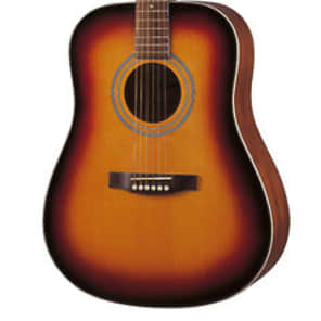 Ashland SD80 (By Crafter) steel acoustic dreadnought guitar in marineburst for sale