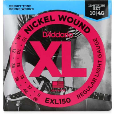 D'Addario EXL150 Electric 12 String Guitar Strings, regular Light, .010 - .046