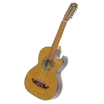 New Paracho Elite Presidio Mariachi 12 String Bajo Sexto Acoustic Guitar w/Solid Cedar Top, Natural for sale