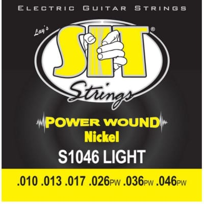 SIT S1046 Light Power Wound Nickel Electric Guitar Strings .010-.046 for sale