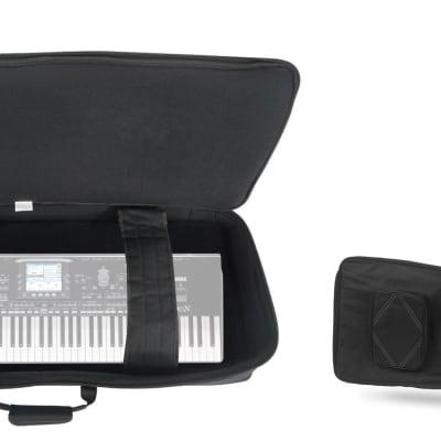 Rockville 76 Key Padded Rigid Durable Keyboard Gig Bag Case For KORG PA3X 76