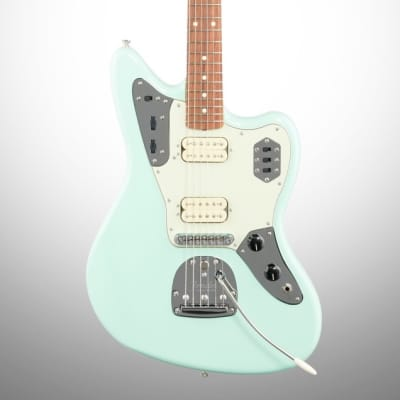 Fender Vintera '60s Jaguar Modified HH Electric Guitar, Pau Ferro (with Gig Bag), Surf Green for sale