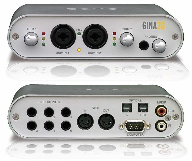 NEW DRIVER: ECHO DIGITAL AUDIO GINA3G
