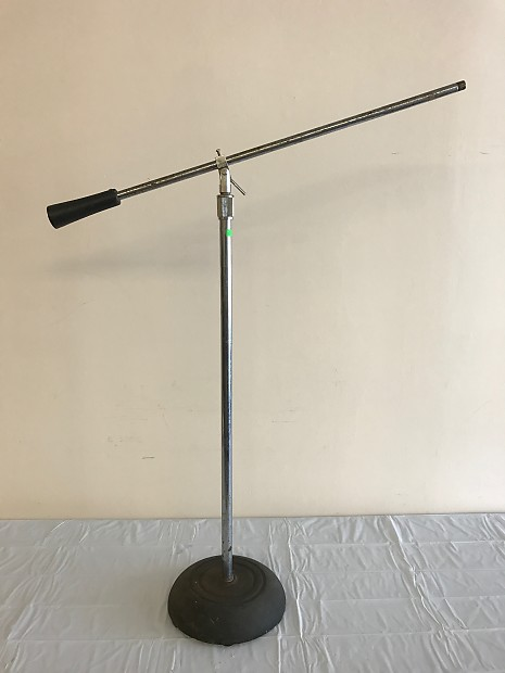 Vintage Atlas Sound Microphone Boom Stand Usa D Reverb