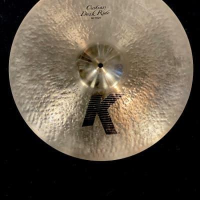 "Used 20"" Zildjian K Custom Dark Ride Cymbal"