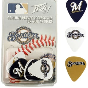 Peavey PV03023100 Milwaukee Brewers Guitar Picks (12)
