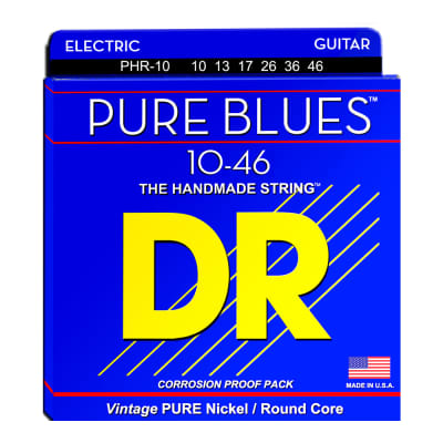 DR Strings PHR-10 Pure Blues Medium Electric Guitar Strings
