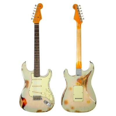 Fender Custom Shop Ltd '62 Stratocaster Heavy Relic - Vintage Blonde over 3-Color Sunburst for sale