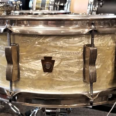 Ludwig WFL Buddy Rich White Marine Pearl Snare Drum