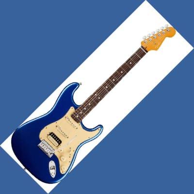 CHITARRA ELETTRICA FENDER American Ultra Stratocaster HSS Rosewood Fingerboard Cobra Blue for sale