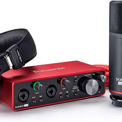 Focusrite Scarlett 2i2 Studio 2×2 USB Audio Interface with Microphone and Headphones (B-Stock)