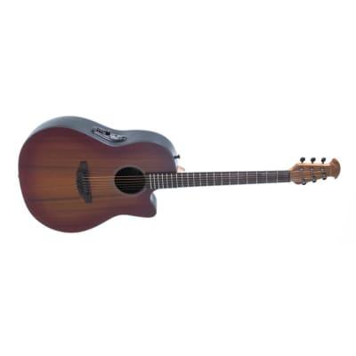 Ovation 2771STR-MB Balladeer Street Electro Acoustic Guitar, Mahogany Burst for sale