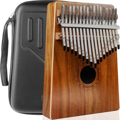 Premium 17 Keys Kalimba Thumb Piano with Waterproof Hard Protective Case Full Kit Bundle