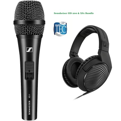 Sennheiser HD 200 & XS1 Vocal Mic - Package - Karaoke, Home Studio, Perfect with Warranty $ave $40