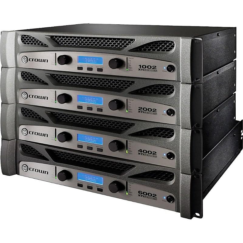 crown xti 6002 power amplifier regular music123 reverb. Black Bedroom Furniture Sets. Home Design Ideas