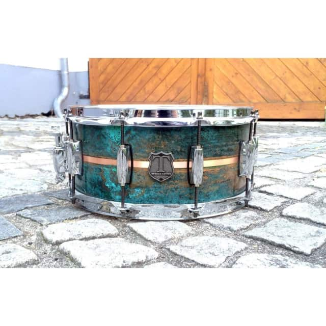 T Berger Drums Copper Patina Snare Drum III - 14x6.5 image