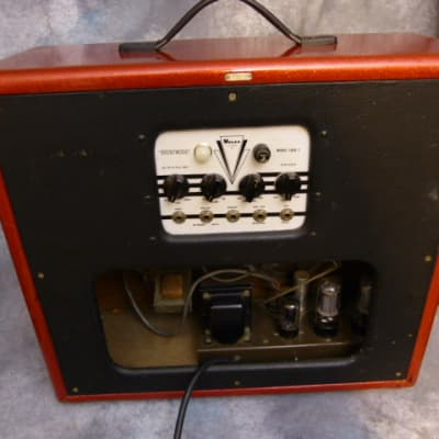 Valco Brentwood 1650T Vintage Tube Amp w Original Speakers Red for sale