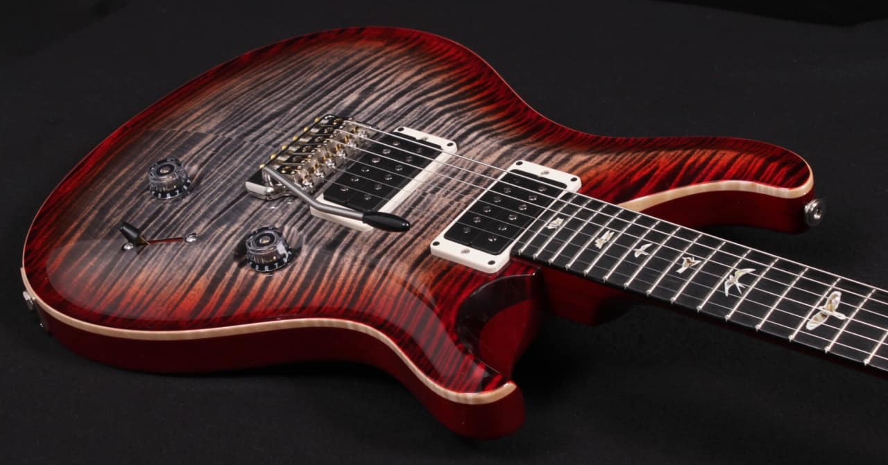 paul reed smith prs custom 24 10 top 2017 cherry charcoal reverb. Black Bedroom Furniture Sets. Home Design Ideas