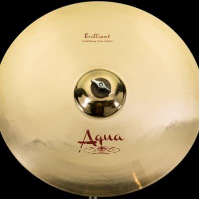 "Aqua 16"" Medium Thin Crash Brilliant"