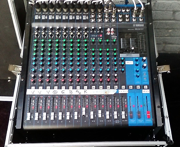Yamaha mg16xu mixing console with snake and roadcase reverb for Yamaha mg16xu dimensions