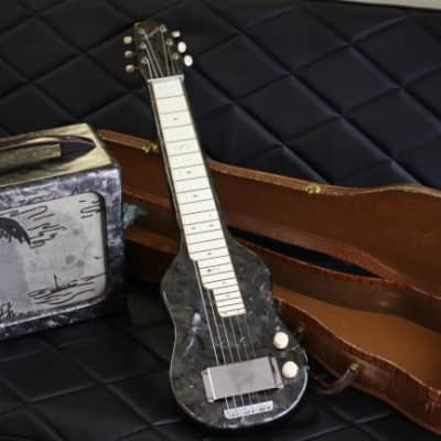 1952 Magnatone Lap Steel and Matching Amp-Black Mother of Pearl for sale