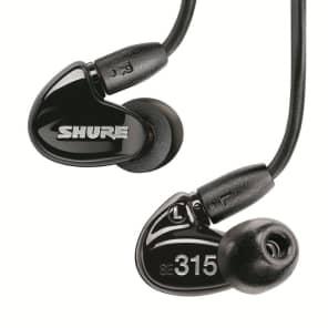 Shure SE315 Sound Isolating Earphones - Black