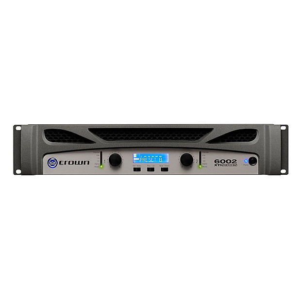 crown xti6002 power amplifier with dsp 6000 watts zzounds reverb. Black Bedroom Furniture Sets. Home Design Ideas