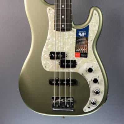 DEMO Fender American Elite Precision Bass - Satin Jade Pearl (020) for sale
