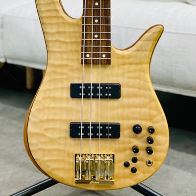 Fodera Custom 35th Anniversary Limited Edition Monarch Deluxe 4-Quilted Maple Top for sale