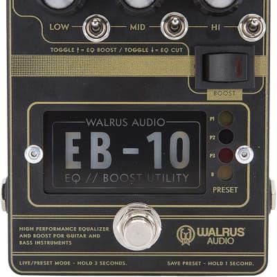 Walrus Audio EB-10 Preamp/EQ/Boost, Black, (900-1049B)