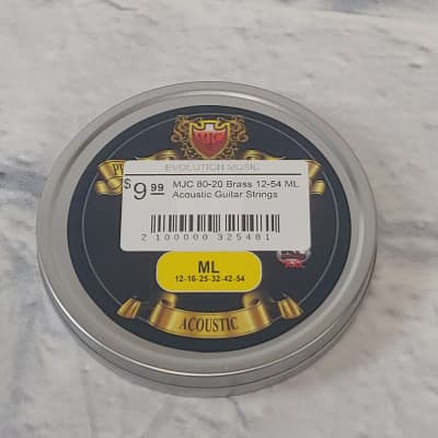 MJC 80-20 Brass 12-54 ML Acoustic Guitar Strings