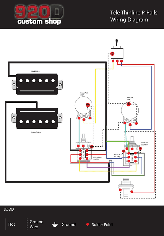 920d custom seymour duncan p-rails loaded classic series '72 thinline  telecaster pickguard w/ 3-way switching and p-rails style push/pull  controls, to/bk