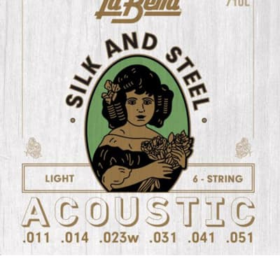 LaBella 710L Silk & Steel Light Acoustic Guitar Strings for sale
