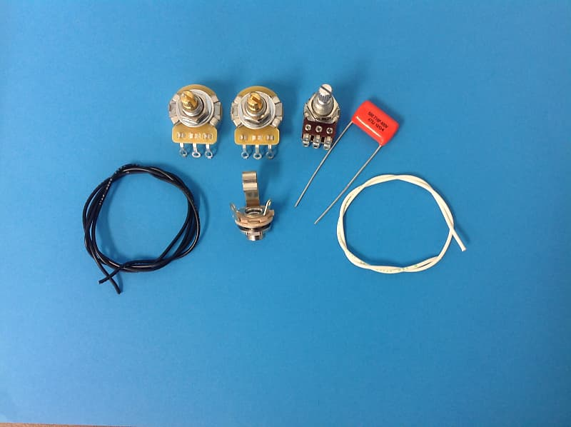 AM Guitar Works Jazz J Bass Wiring Kit with Blend Control | Reverb